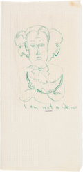 Movie/TV Memorabilia:Original Art, A James Dean Drawing, Circa 1955....