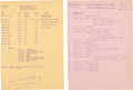 Music Memorabilia:Memorabilia, Beatles Ed Sullivan Show, February 9, 1964, Call Sheet andDress Rehearsal Schedule along with Original Photos of ... (Total:2 Items)