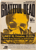 Music Memorabilia:Posters, Grateful Dead Sports Palace Barcelona Concert Poster (Gigs, 1981)....