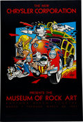 Music Memorabilia:Posters, Rick Griffin Museum of Rock Art Event Poster (1982)....