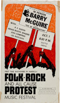 Music Memorabilia:Posters, Barry McGuire Folk Rock Festival Seattle Arena Concert Poster(1965)....