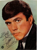 Music Memorabilia:Autographs and Signed Items, Dave Clark Signed Large Vintage Color Fab Magazine Photo(1964). ...