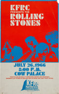 Music Memorabilia:Posters, Rolling Stones Cow Palace Concert Poster (KFRC, 1966)....
