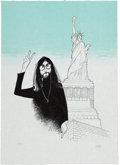 "Music Memorabilia:Posters, Beatles - ""John Lennon in New York"" Al Hirschfeld Limited EditionPrint #95/300...."