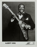 Music Memorabilia:Autographs and Signed Items, Albert King Signed Promo Photo. ...