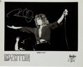 Music Memorabilia:Autographs and Signed Items, Robert Plant Signed Led Zeppelin Promo Photo....