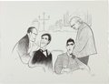 "Movie/TV Memorabilia:Original Art, An Al Hirschfeld Signed Limited Edition Print from ""TheGodfather.""..."