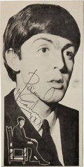 Music Memorabilia:Autographs and Signed Items, Sir Paul McCartney Signed Vintage Magazine Photo....