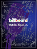 Music Memorabilia:Autographs and Signed Items, Madonna, Taylor Swift, Pitbull, Justin Bieber, Kacey Musgraves,Miley Cyrus, and Others Signed Billboard 2013 Music Awards...