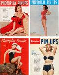 Movie/TV Memorabilia:Memorabilia, Vintage Pin-Up Magazines, 1950s.... (Total: 4 Items)