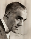 Movie/TV Memorabilia:Autographs and Signed Items, A Boris Karloff Signed Black and White Photograph....