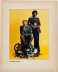 "Movie/TV Memorabilia:Original Art, A ""Sanford & Son"" Print from the Cover of a ""TV Guide,""1973...."