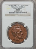 U.S. Presidents & Statesmen, Undated Abraham Lincoln Centennial MS63 NGC. King-335. Copper, 31.5mm....