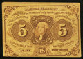 Fractional Currency:First Issue, Fr. 1230 5¢ First Issue Very Fine.. ...