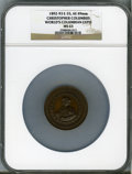 Expositions and Fairs, 1893 World's Columbian Exposition, Christopher Columbus MS63 NGC. Eglit-55. Bronze, 49 mm....