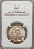 Walking Liberty Half Dollars: , 1947 50C MS65 NGC. NGC Census: (2765/746). PCGS Population(3659/1056). Mintage: 4,094,000. Numismedia Wsl. Price for probl...