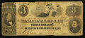 Obsoletes By State:Ohio, Columbus, OH- The State Bank of Ohio, Franklin Branch $3 June 20,1861 UNL Wolka UNL. ...