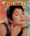 Music Memorabilia:Autographs and Signed Items, Kate Bush Signed Color Pulse! Magazine Cover (1989). ...