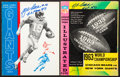 Football Collectibles:Publications, 1963 NFL Championship Game and New York Giants Yearbook - Signed by Giants Legends....