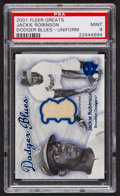 "Baseball Cards:Singles (1970-Now), 2001 Fleer Greats ""Dodger Blues"" Jackie Robinson PSA Mint 9. ..."
