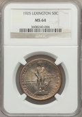 Commemorative Silver: , 1925 50C Lexington MS64 NGC. NGC Census: (1859/1094). PCGSPopulation (1821/1341). Mintage: 162,013. Numismedia Wsl. Price ...