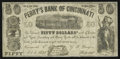Obsoletes By State:Ohio, Cincinnati, OH- Perry's Bank of Cincinnati / G.T. Perry $50 Oct. 5,1855 Wolka 0597-01. ...