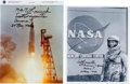 Autographs:Celebrities, Scott Carpenter Signed Mercury-Related Photos (Two).... (Total: 2Items)