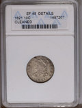 Bust Dimes: , 1821 10C Large Date--Cleaned--ANACS. XF45 Details. NGC Census:(12/149). PCGS Population (10/116). Mintage: 1,186,512. Numi...