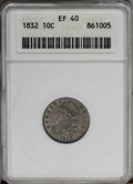 Bust Dimes: , 1832 10C XF40 ANACS. NGC Census: (2/199). PCGS Population (10/202).Mintage: 522,500. Numismedia Wsl. Price: $179. (#4521)...