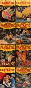 Books:Science Fiction & Fantasy, Famous Fantastic Mysteries Magazine. Lot of Eight Issues. [Chicago: All-Fiction Field, 1940's]. Original wrappers. Some wear... (Total: 8 Items)