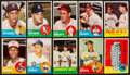 Baseball Cards:Sets, 1963 Topps Baseball Partial Set (151) With HoFers. ...