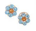 Estate Jewelry:Earrings, Citrine, Topaz, Gold Earrings, Pasquale Bruni. ...