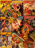 Books:Science Fiction & Fantasy, Startling Stories Magazine. Lot of Eleven Issues. New York: Better Publications, 1930's-1940's. Original wrappers. Some wear... (Total: 11 Items)