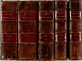 Books:Fine Bindings & Library Sets, The New Englander. New Haven: Kingsley, [n.d., ca. 1800's]. Five various, non-consecutive bound volumes of this maga... (Total: 5 Items)