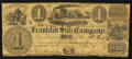 Obsoletes By State:Ohio, Franklin, OH- The Franklin Silk Company $1 June 15, 1837 Wolka1124-01. ...