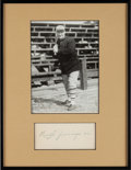 Autographs:Others, 1904 Hughie Jennings Signed Album Page....