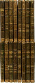 Books:Fine Bindings & Library Sets, Francois-Rene de Chateaubriand. Oeuvres. Paris: Dufour etMulat, 1852. Sixteen octavo volumes. Contemporary green mo...(Total: 16 Items)