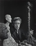 Photographs, YOUSUF KARSH (Canadian, 1908-2002). Alberto Giacometti, 1965. Gelatin silver. 13 x 10-1/4 inches (33 x 26 cm). Signed in...