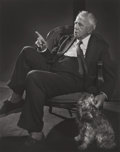 Photographs, YOUSUF KARSH (Canadian, 1908-2002). Robert Frost, 1958. Gelatin silver. 12-7/8 x 10-1/4 inches (32.7 x 26 cm). Signed in...