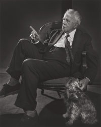 YOUSUF KARSH (Canadian, 1908-2002) Robert Frost, 1958 Gelatin silver 12-7/8 x 10-1/4 inches (32.7