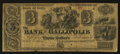 Obsoletes By State:Ohio, Gallipolis, OH- The Bank of Gallipolis $3 Dec. 1, 1840 Wolka1171-02. ...