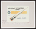 "Explorers:Space Exploration, Mercury Seven Astronauts: Framed ""Directorate of Mercury""Presentation Signed by All. ..."