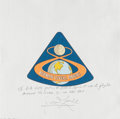Explorers:Space Exploration, Apollo 8 Flown Beta Cloth Mission Insignia Directly from the Personal Collection of Mission Command Module Pilot James Lovell,...