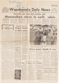 Autographs:Celebrities, Neil Armstrong Signed Wapakoneta Daily News Dated July 24, 1969. ...