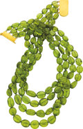 Estate Jewelry:Necklaces, Peridot, Gold Necklace. ...