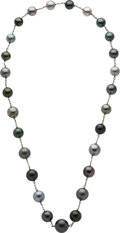 Estate Jewelry:Necklaces, South Sea Cultured Pearl, White Gold Necklace. ...