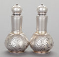 Silver Holloware, American, A PAIR OF WHITING SILVER AND SILVER GILT SALT AND PEPPER SHAKERS. Whiting Manufacturing Company, New York, New York, circa 1... (Total: 2 Items)