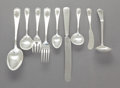 Silver & Vertu:Flatware, A FORTY-FIVE PIECE LEBOLT & CO. SILVER FLATWARE SERVICE FOR SIX. Lebolt & Co., Chicago, Illinois, circa 1920. Marks: LEBOL... (Total: 45 )