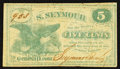 Obsoletes By State:Ohio, Geneva, OH- S. Seymour 5¢ 1862 Wolka 1194-01. ...