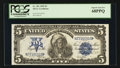 Large Size:Silver Certificates, Fr. 281 $5 1899 Silver Certificate PCGS Superb Gem New 68PPQ.. ...